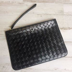 Bottega Veneta | Black Leather Small Weave Pouch